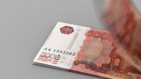 Counting Ruble Stock Photo
