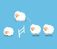 Counting Sheep illustration Stock Photo