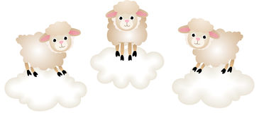 Counting Sheep to Sleep Stock Photo