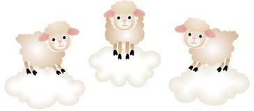 Counting Sheep to Sleep Stock Photo
