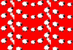 Counting Sheep Wallpaper royalty free stock photo