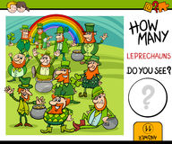 Counting task with leprechauns Royalty Free Stock Photo