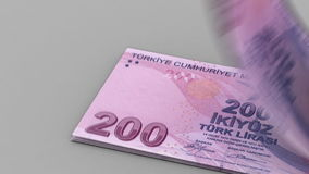 Counting Turkish Lira Royalty Free Stock Image