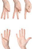 Counting woman hands Stock Image