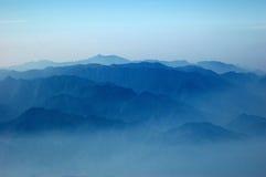 Countour de montagne de Wuyishan Image libre de droits