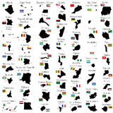 Countries of Africa Royalty Free Stock Photo