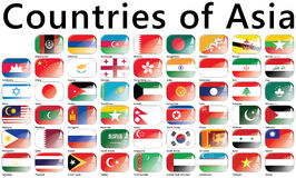 Countries of Asia Royalty Free Stock Photography