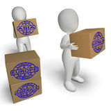 Countries Boxes Mean Global Trade Exporting Royalty Free Stock Images