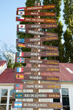 Countries Distance Sign - Patagonia - Argentina Royalty Free Stock Photography