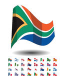 countries flag icons, FIFA world cup 2010 Royalty Free Stock Image