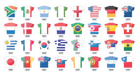 Countries flags icons, world cup 2010. Countries flags icons for soccer games, total 32 icons. world cup 2010 Royalty Free Stock Photography