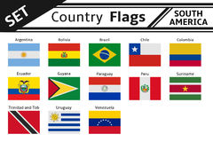 countries flags south america royalty free stock photo