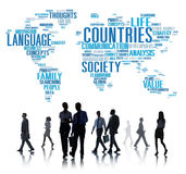 Countries Nation Society Territory International Concept.  Royalty Free Stock Photography