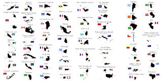 Countries of North and South America Royalty Free Stock Image