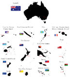 Countries of Oceania and Australia Stock Image