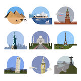 Countries Of The World Logo Design Template Stock Image
