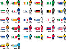 Countries playing the Brazil 2014 Soccer World Cup. This is a set with the countries playing the Brazil 2014 Soccer World Cup and their jerseys Vector Illustration