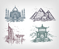 The countries of the world. Authors illustration in vector Royalty Free Stock Photo