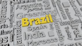 Countries of the world: Brazil Stock Images