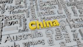 Countries of the world: China Royalty Free Stock Photo