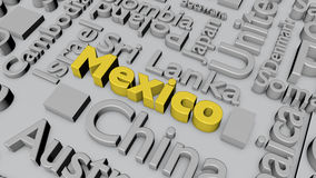 Countries of the world: Mexico Royalty Free Stock Photos