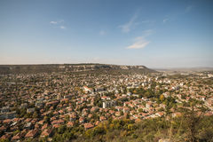 Countrified town. Panoramic view of a big countrified town Royalty Free Stock Photo
