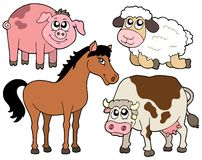 Country animals collection 2. Vector illustration Stock Photography