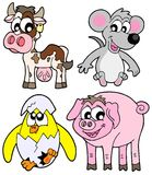 Country animals collection Royalty Free Stock Images