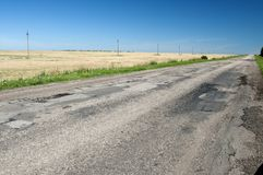 Country asphalt road Royalty Free Stock Photos