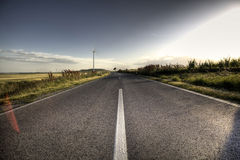 Country Asphalt road Stock Photo