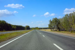 Country asphalted highway Royalty Free Stock Photos