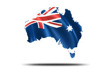 Country of Australia. Australia with flag