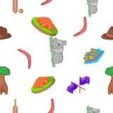 Country Australia pattern, cartoon style Stock Photo