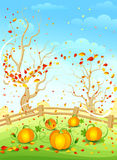 Country autumn illustration Stock Images