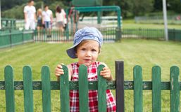 Country baby girl Stock Images