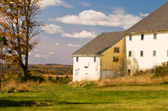 Country barn in autumn. Partial view of a large country barn in the autumn Stock Image