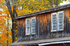Country barn during fall foliage Stock Image