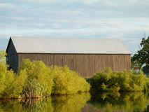 Country Barn and Pond Stock Images