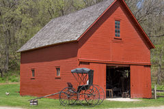 Country Barn Workshop and Buggy Royalty Free Stock Image