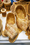 Country bast shoes Stock Images