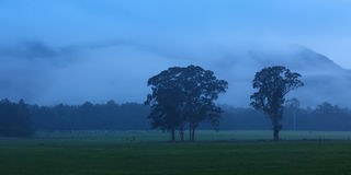 Country Blue Dawn Pan Stock Images