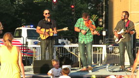 Country Bluegrass Music at Sunset stock footage