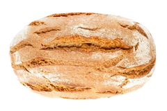 Country bread, top view Stock Images
