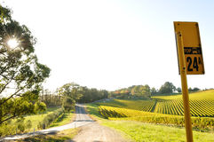 Country bus stop in Adelaide Hills wine region Royalty Free Stock Images