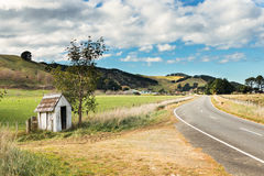 Country Bus Stop Shelter Stock Image