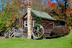 Free Country Cabin In Autumn Stock Image - 62017561