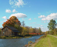 Country canal scene. Canal in the country autumn scenic Stock Images