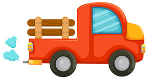 Country car. Illustration of isolated country car on white background Royalty Free Stock Images