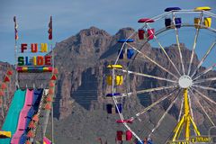 Country carnival. A country carnival at the base of the mountains royalty free stock photos
