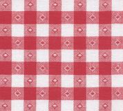 Country ceckered. Detailed red table-cloth for background use. Country style Stock Photos